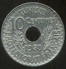 TUNISIE  10 centimes 1938  ( SUP )