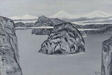"Ken Kirkby 1968 24x36"" Original Oil Painting Winter Landscape Canadian"