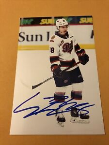 Connor Bedard Signed Regina Pats 4x6 Photo 2023 NHL Draft Top Prospect *smudged