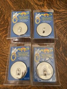 Magnet Source 07254 Magnetic Hook 35 lb Weight Capacity 2-Hook Chrome lot of 4