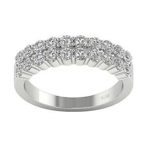 Engegmenat Ring Round Diamond VS1 E 2.10 Carat 14K White Yellow Gold 5.60 mm