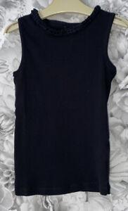Girls Age 6-7 Years - Black Summer Vest Top