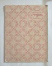 RARE - ALBUM DE BRODERIES AU POINT DE CROIX, Par Th. de Dillmont. 1st Ed - 1885