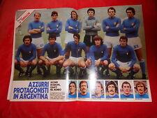 RIVISTA  FUMETTO  IL  GIORNALINO  NR 30 1978  CALCIO  POSTER  ITALIA