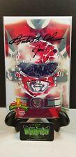 MIGHTY MORPHIN POWER RANGERS #0 RED RANGER VARIANT SIGNED BY ST. JOHN NM BOOM!