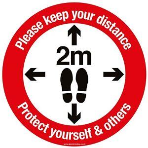 Social Distancing Floor Door Stickers Keep your Distance Stickers Warning Sign