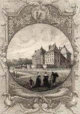 EAU FORTE / Fables de la Fontaine 1883 / LE CHATEAU DE VAUX