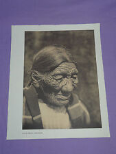 "Edward Curtis Native American Indian Vintage Photo Print ""BLACK BELLY -CHEYENNE"""