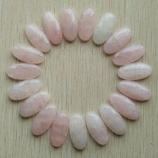 Natural rose quartz stone oval cab cabochon beads 15x30mm 20pcs/lot wholesale