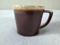 Vintage McCoy USA Coffee Mug Cup Brown Drip Glaze