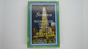 Vintage Souvenir of Rockefeller Center New York Playing Cards US Rev Tax Stamp