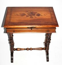 Antique Marquetry Inlaid Satinwood Sewing Table - FREE Shipping [PL4901]