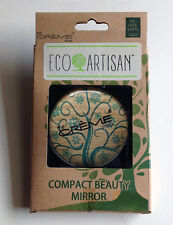 Eco Artisan Compact Beauty Mirror Distributed by The Creme Shop - Nature Design