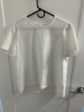 Madewell Maison Button-Back White Blouse Top Women Size S
