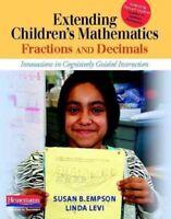 Extending Children's Mathematics : Fractions and Decimals: Innovations in Cog...