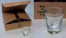 Libbey  # 48 Whiskey 2oz. PROFESSIONAL SHOT GLASS 1 DOZEN Free Ship in USA