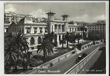CARTOLINA BIANCO E NERO san remo casino' municipale
