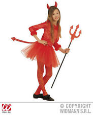Childrens Devil Fancy Dress Costume Devil Girl Satan Halloween Outfit 128Cm
