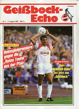 BL 87/88 1. FC Köln - 1. FC Kaiserslautern
