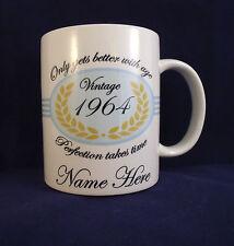 Personalised Blue Birthday - Coffee Mug - 30th 40th 50th 60th 70th 80th 90th
