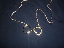 "One Direction Infinity Necklace 24"" Gold Charm/Chain New in Wrap"