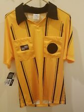 New Official Sports Soccer Referee Adult Jersey Short Sleeve Yellow Size Small