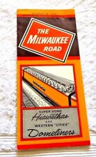 VINTAGE TIME TABLE TRAIN SCHEDULE THE MILWAUKEE ROAD SUPER DOME HIAWATHAS 1966