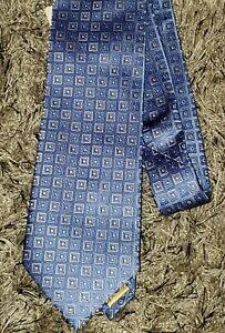 NWT! Donald J. Trump Signature Collection 100% Silk Geometric Neck Tie Blue