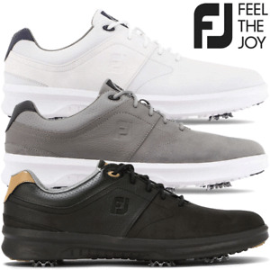 FOOTJOY CONTOUR MENS SPIKED LIGHTWEIGHT WATERPROOF GOLF SHOES / ALL COLOURS