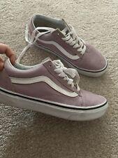 Lilac Purple Old Sckool Vans Size 3