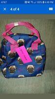 Betsey Johnson Blue Pug Lunch Bag