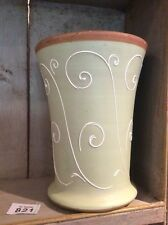 Denby Ferndale 24cm  Light Green Vase Raised Decoration Vintage Retro Large