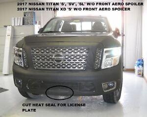 Lebra Front End Mask Cover Bra Fits 2017-19 Nissan Titan S ,SV ,SL W/O FR.Spoilr