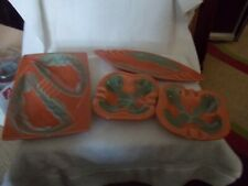 4 Pc Set Of Matching Ashtrays Retro From 50'S Great Cond.
