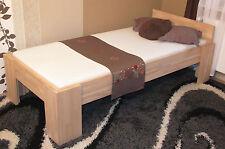 Bett Vollholz Echtholz Massivholzbett 100x200 Einzelbett Seniorenbett Fuß I 27mm