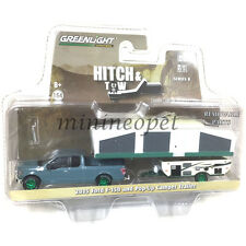 GREENLIGHT 32080 D 2015 FORD F-150 PICK UP & POP-UP CAMPER TRAILER 1/64 Chase
