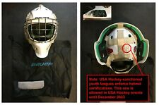 """New listing Bauer NME 4 Ice Hockey Goalie Mask -- Junior (6 1/2 to 7 1/8, 20.8"""" to 22.4"""")"""