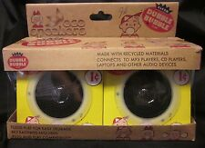 "ECO 2 Speakers MP3 CD Dubble Bubble Recyled Folding New Free US Ship 3.5"" '12"