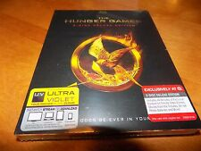 THE HUNGER GAMES 3 Disc Deluxe Edition Jennifer Lawrence Blu-Ray + Digital NEW