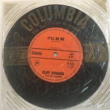 "CLIFF RICHARD - ""It'll Be Me / Since I Lost You"" 45rpm 7"" Vinyl Single Record"