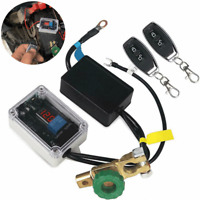 Dual Remote Control 12V Car Battery Disconnect Cut Off Isolator Master Switches