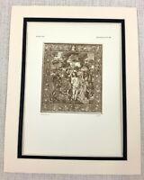 1927 Antico Stampa Il Battesimo di Cristo Tessuta Arazzo Dutch Fiammingo Art Ltd