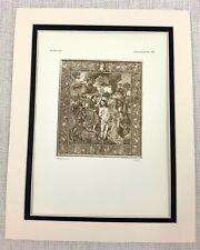 1927 Antique Print The Baptism of Christ Woven Tapestry Dutch Flemish Art Ltd Ed