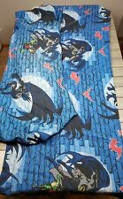 Vintage Batman Twin Flat Sheet and fitted sheet. No pillow case. D River 1999