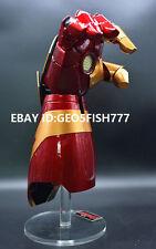 CATTOYS Tony Stark Iron Man Mark 42 1/1 Gauntlet Auto Light Laser RIGHT HAND