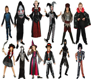 Children's Vampire Costume Boys Girls Dracula Halloween Fancy Dress Kids Outfit