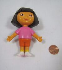 "DORA THE EXPLORER Dollhouse 3.5"" GIRL DOLL Pink Shirt Cake Topper Figure #2"
