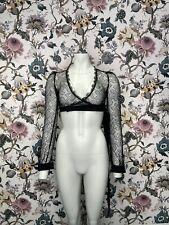 Agent Provocateur Elsey Wrap Top Black Size 4 / UK12 (Z20)