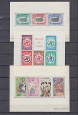 Laos Collection 14 Different Souvenir Sheets MNH Luxe (5 scans)
