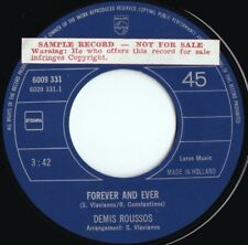 Demis Roussos ORIG DUT Promo 45 Forever and ever NM '73 Philips 6009331 Chanson